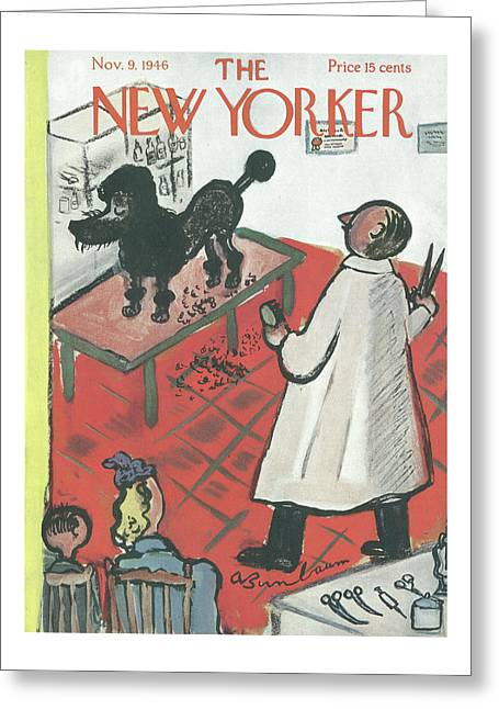 New Yorker November 9th, 1946 Greeting Card