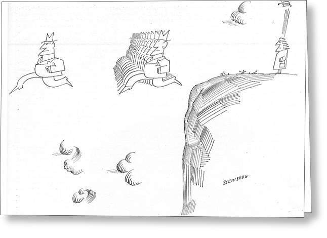New Yorker November 9th, 1968 Greeting Card by Saul Steinberg