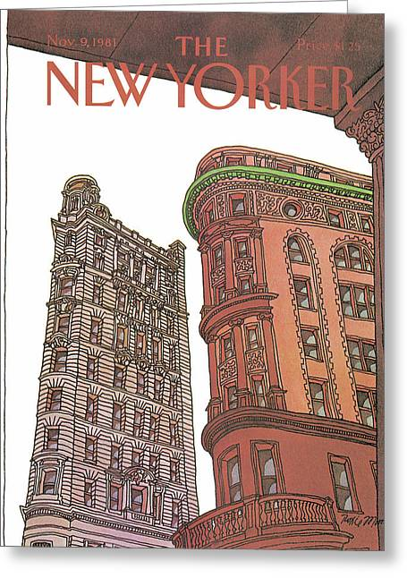 New Yorker November 9th, 1981 Greeting Card