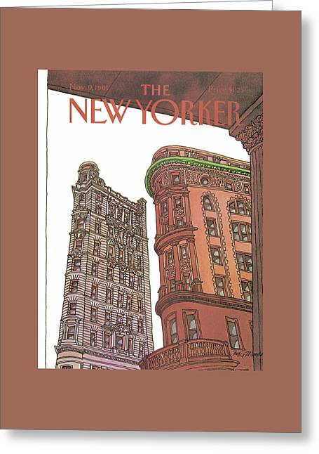 New Yorker November 9th, 1981 Greeting Card by Roxie Munro