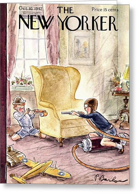 New Yorker October 10th, 1942 Greeting Card by Perry Barlow
