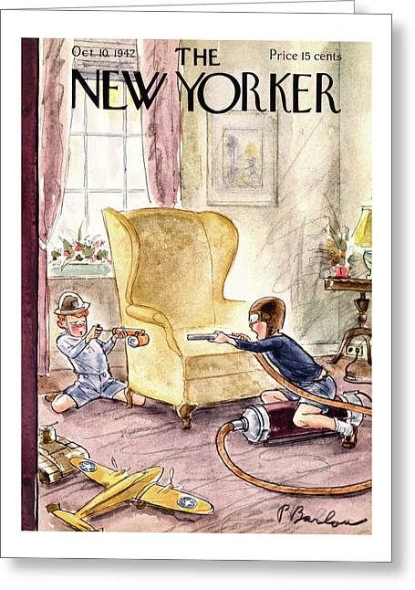 New Yorker October 10th, 1942 Greeting Card