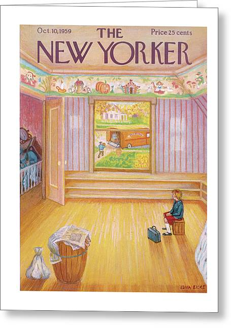 New Yorker October 10th, 1959 Greeting Card