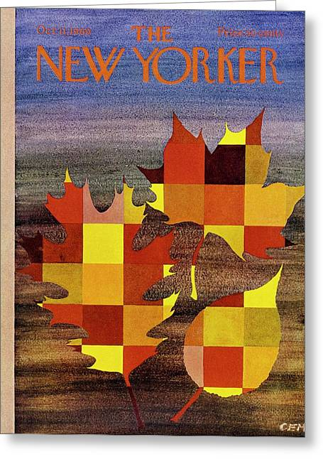 New Yorker October 11th 1969 Greeting Card