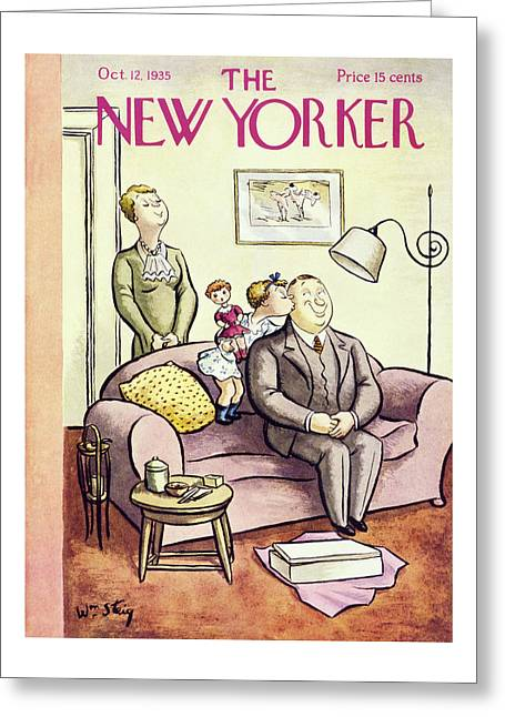 New Yorker October 12 1935 Greeting Card