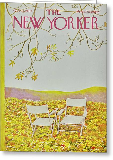 New Yorker October 12th 1964 Greeting Card