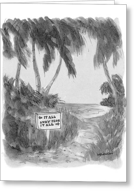 New Yorker October 13th, 1975 Greeting Card