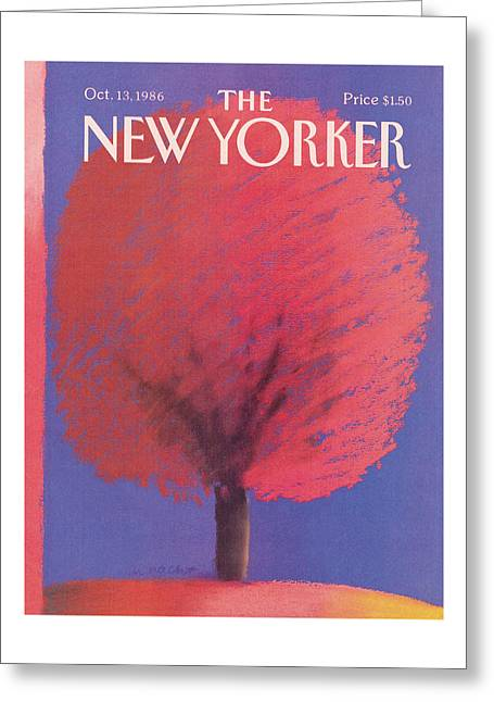 New Yorker October 13th, 1986 Greeting Card