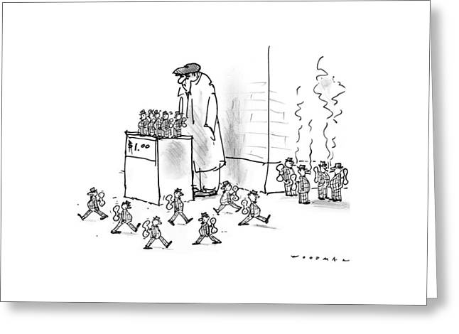New Yorker October 13th, 1997 Greeting Card by Bill Woodman