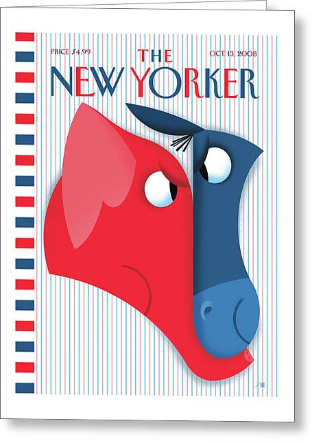 New Yorker October 13th, 2008 Greeting Card