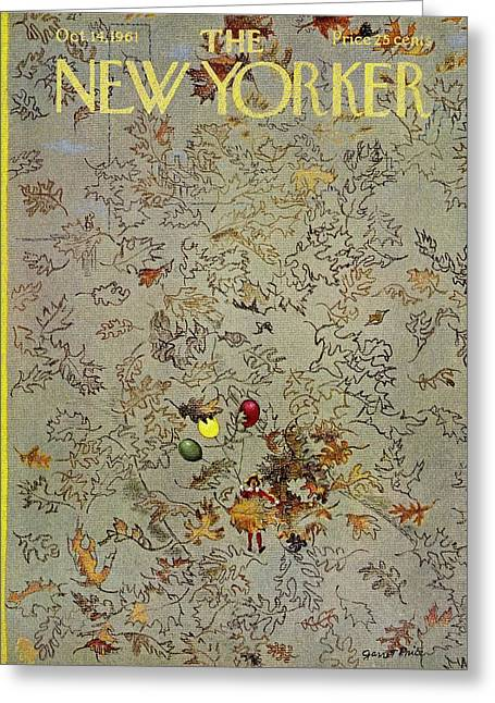 New Yorker October 14th 1961 Greeting Card