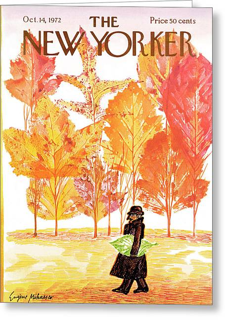 New Yorker October 14th, 1972 Greeting Card