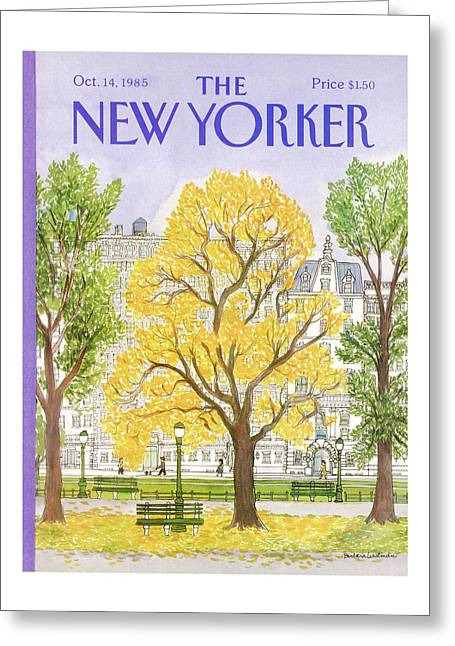 New Yorker October 14th, 1985 Greeting Card