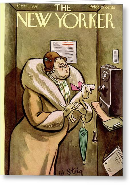 New Yorker October 15th, 1932 Greeting Card