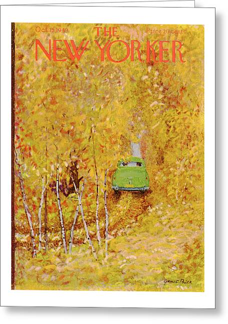 New Yorker October 15th, 1949 Greeting Card