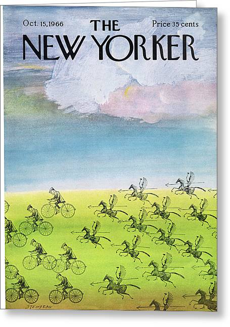New Yorker October 15th, 1966 Greeting Card