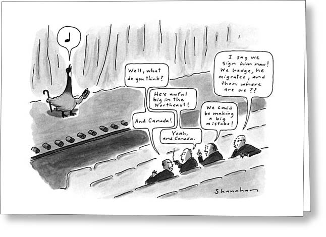 New Yorker October 15th, 1990 Greeting Card