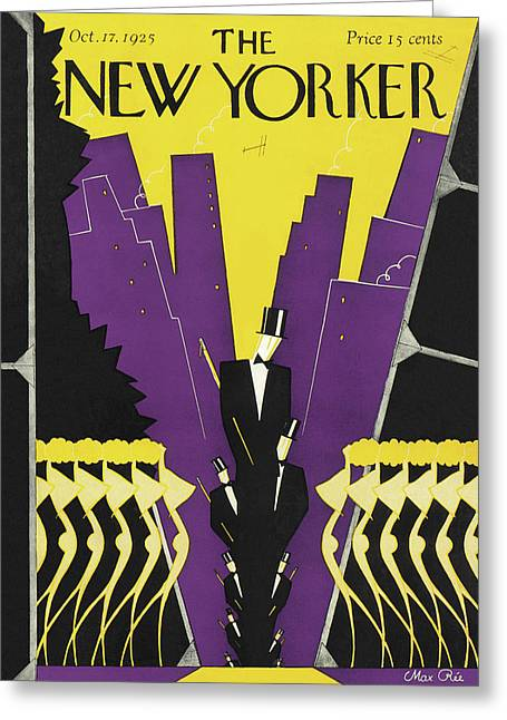 New Yorker October 17th, 1925 Greeting Card by Max Ree