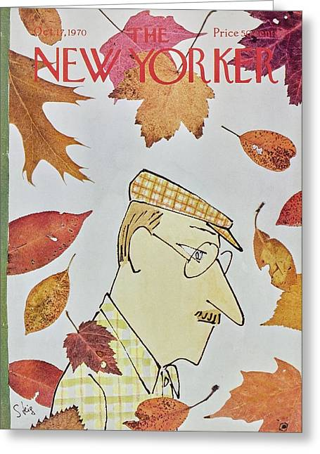 New Yorker October 17th 1970 Greeting Card