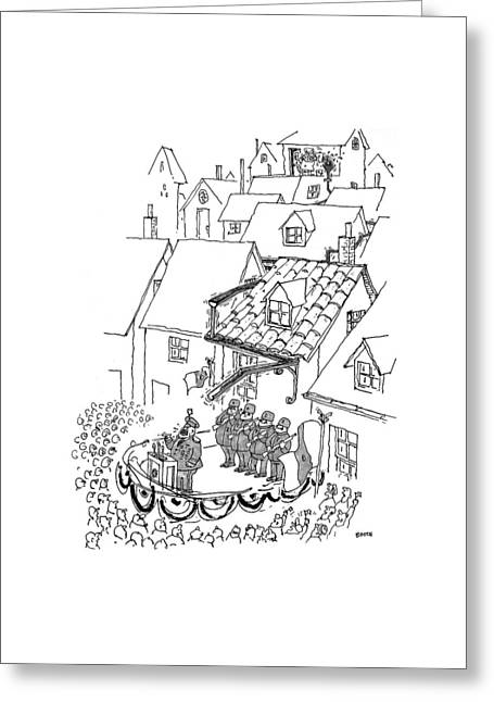 New Yorker October 18th, 1999 Greeting Card by George Booth