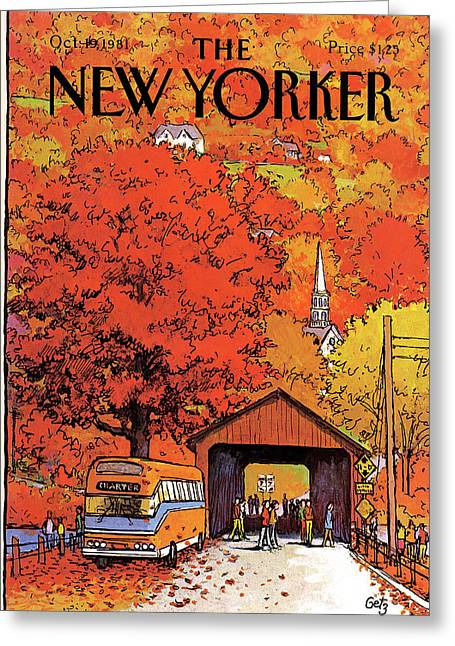 New Yorker October 19th, 1981 Greeting Card by Arthur Getz