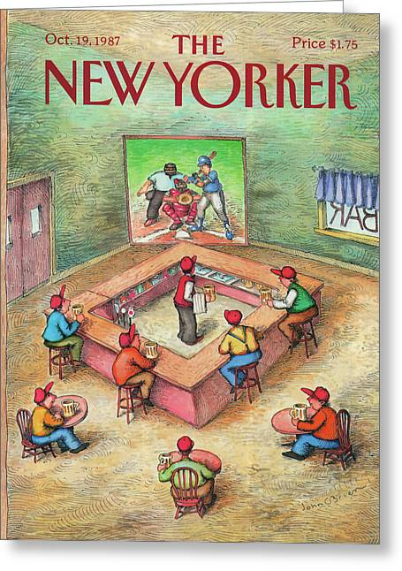 New Yorker October 19th, 1987 Greeting Card by John O'Brien