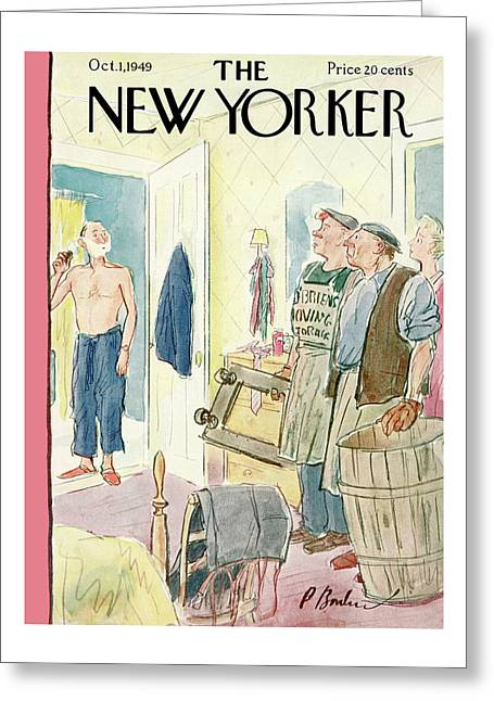 New Yorker October 1st, 1949 Greeting Card