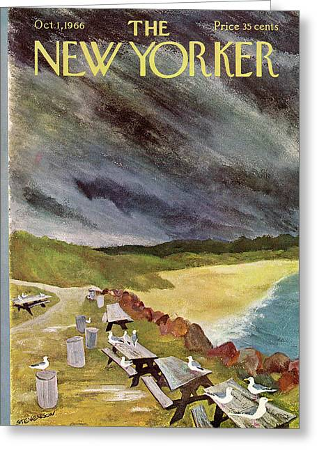 New Yorker October 1st, 1966 Greeting Card