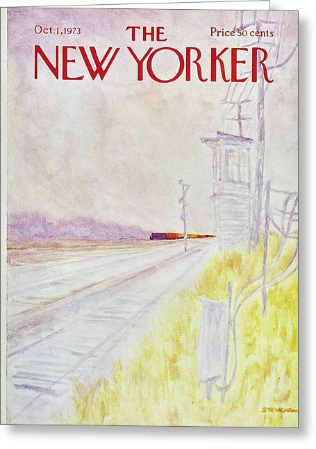 New Yorker October 1st 1973 Greeting Card