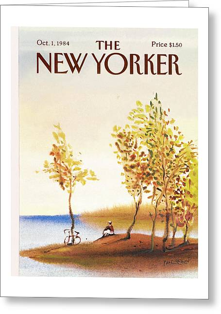 New Yorker October 1st, 1984 Greeting Card