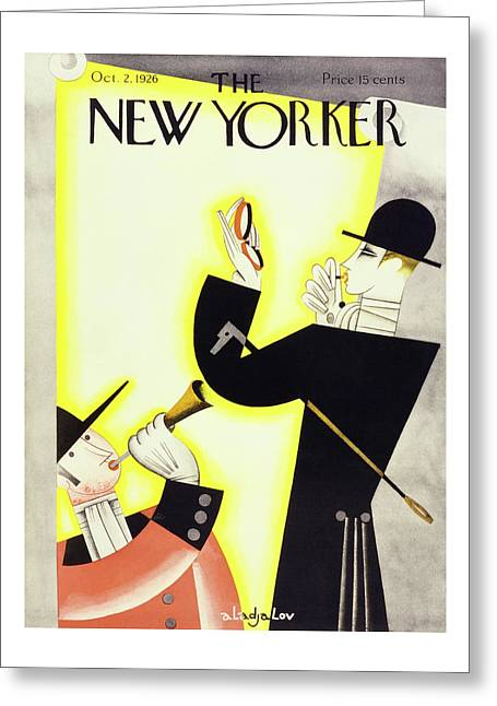 New Yorker October 2 1926 Greeting Card