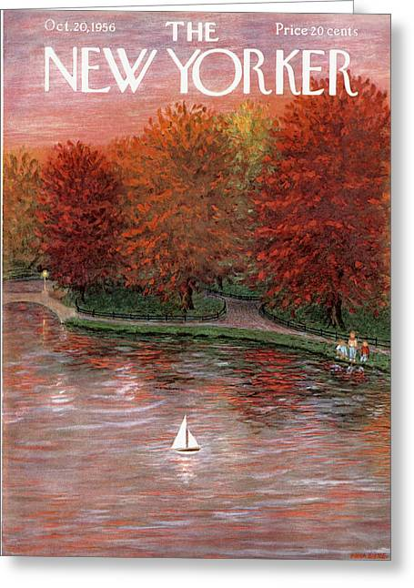 New Yorker October 20th, 1956 Greeting Card by Edna Eicke