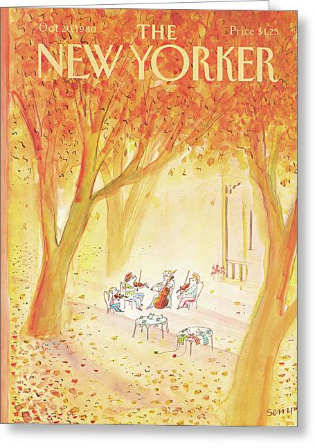 New Yorker October 20th, 1980 Greeting Card by Jean-Jacques Sempe