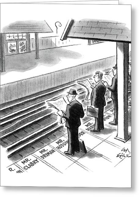 New Yorker October 20th, 1986 Greeting Card by Ed Fisher