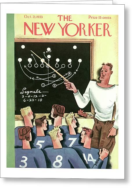 New Yorker October 21st, 1933 Greeting Card
