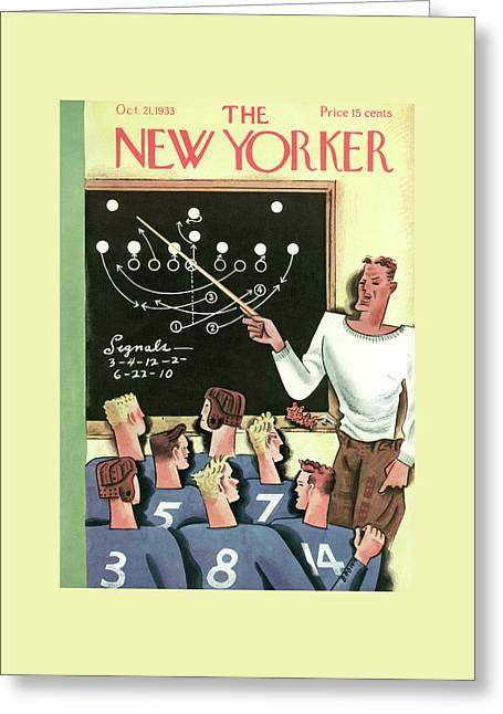New Yorker October 21st, 1933 Greeting Card by Harry Brown