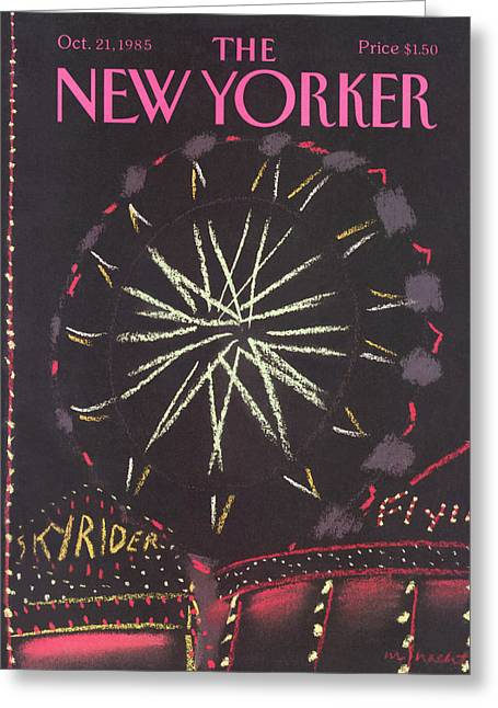 New Yorker October 21st, 1985 Greeting Card