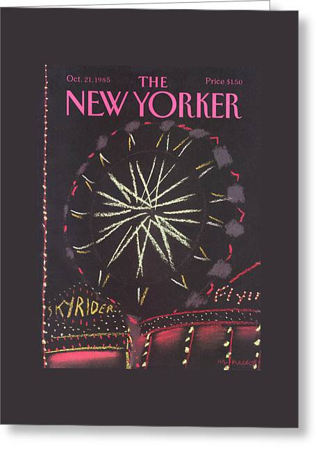 New Yorker October 21st, 1985 Greeting Card by Merle Nacht