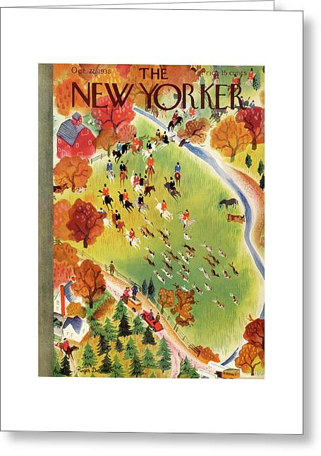 New Yorker October 22nd, 1938 Greeting Card by Roger Duvoisin