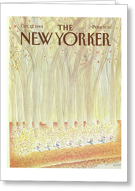New Yorker October 22nd, 1984 Greeting Card