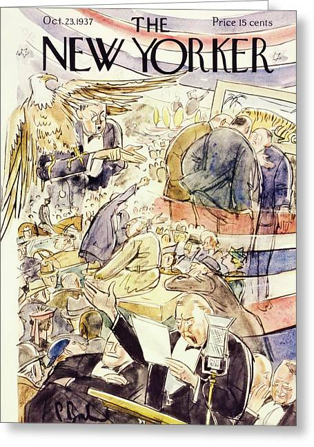 New Yorker October 23 1937 Greeting Card