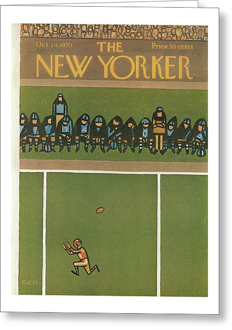 New Yorker October 24th, 1970 Greeting Card