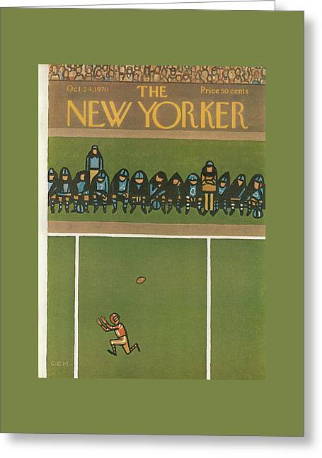 New Yorker October 24th, 1970 Greeting Card by Charles E. Martin
