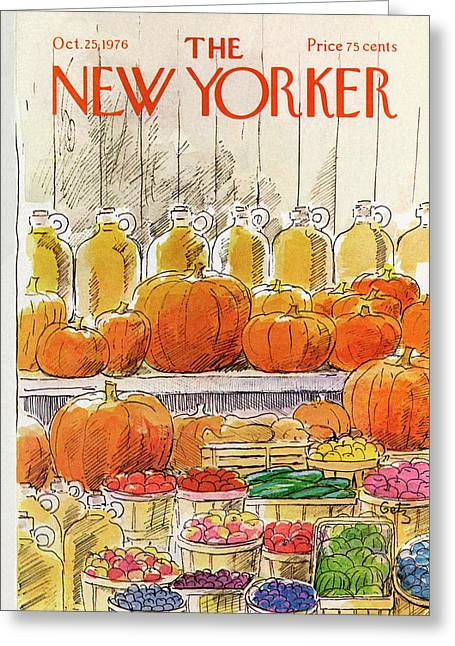 New Yorker October 25th, 1976 Greeting Card
