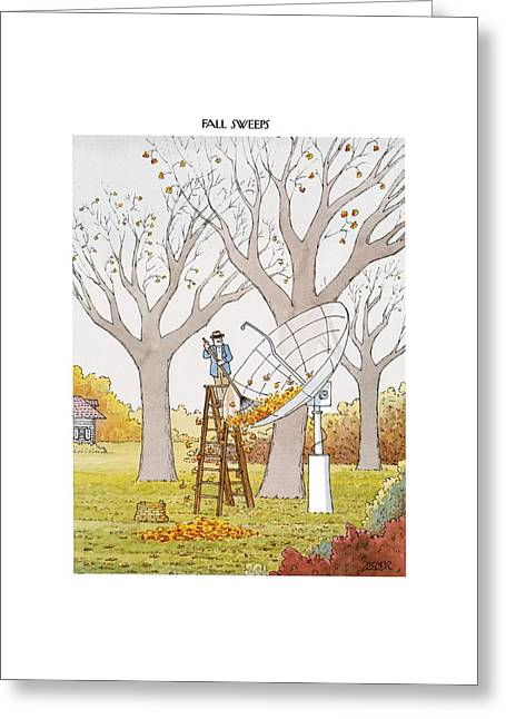 New Yorker October 25th, 1993 Greeting Card by Jack Ziegler