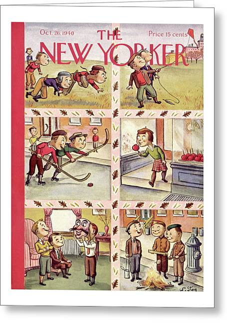 New Yorker October 26th, 1940 Greeting Card