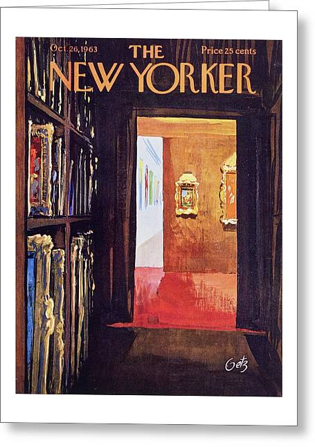New Yorker October 26th 1963 Greeting Card