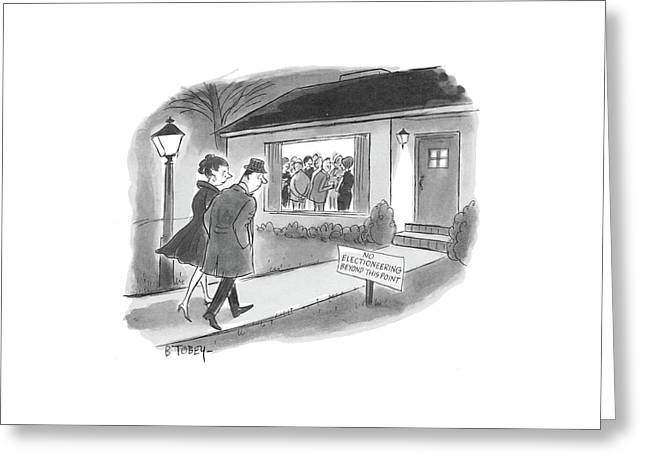 New Yorker October 26th, 1968 Greeting Card by Barney Tobey