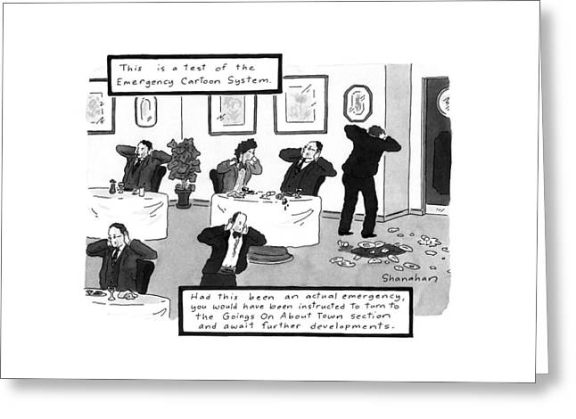 New Yorker October 26th, 1992 Greeting Card