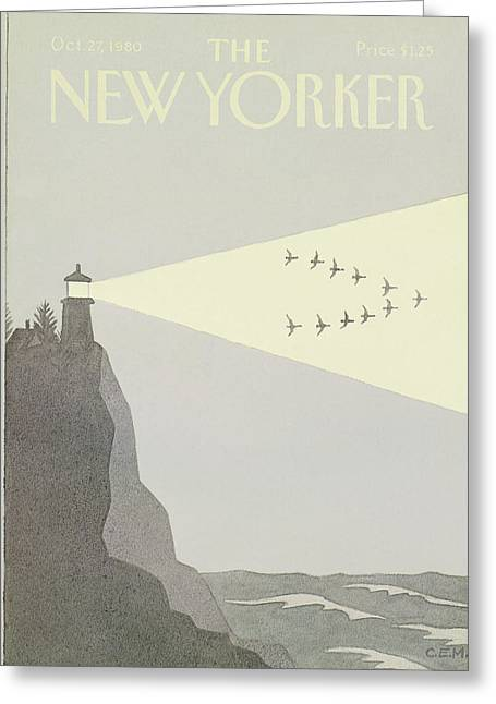 New Yorker October 27th, 1980 Greeting Card by Charles E. Martin